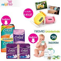 İndirimli ürünlerimizden sizin için seçtik! ♥       #indirim #ihtiyaçlistesi #anneolmak #bebek #annebebek #fırsat #kampanya#orkid #ped #alarm #çalarsaat #saat #neavita #neiyifikir #baby #discount #mom