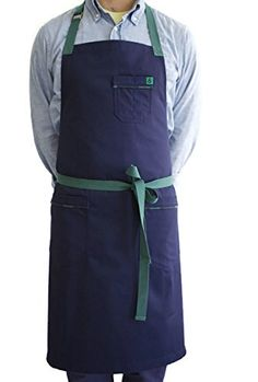 Hedley & Bennett American Made Apron: Ivy Cotton Denim. Great darker color scheme is unisex and won't show stains.