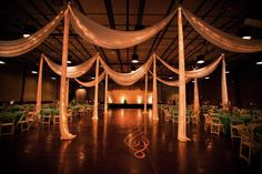 draping, curtains, event space ugly, makeover venue, nashville wedding