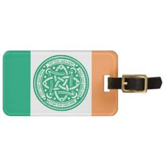 Create Your Own Celtic Knot Shamrock Green Irish Luggage Tag - antique gifts stylish cool diy custom