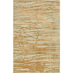 Banshee Collection New Zealand Wool Area Rug in Gold and Soft Sage des | BURKE DECOR