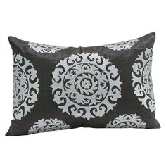 "The kaleidoscopic Suzani Pillow is a beautiful addition to any living space. Suzani in Persian means ""needle work"" and the silk based rectangular Suzani features intricate silk embroidery. - * Khadi s"