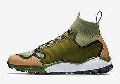 New iteration of the iconic Talaria, its Mid version will come back this season in a new colorway with the Nike Air Zoom Talaria Mid Flyknit Military Green. Baskets, Military Green, Nike Shoes, Men's Shoes, Footwear Shoes, Nike Sneakers, Adidas Men, Everyday Fashion, Shoes Online