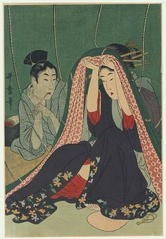 Under the Mosquito Netting by Utamaro (1750 - 1806)