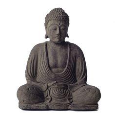 #gardenstatue Handmade Meditating Buddha Statue Lotus Volcanic Ash Outdoor Garden Tabletop New