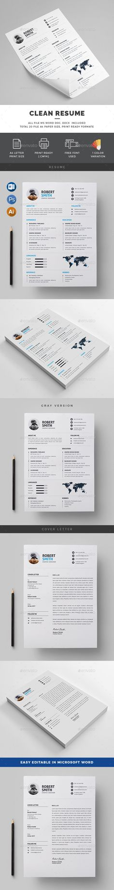 Resume\/CV Resume cv and Ai illustrator - illustrator resume
