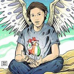 """NEKFEU: """" Un ange nous a laissé .. Une pensée pour la famille et les proches du petit Ryan ; un de nos plus fidèles supporters parti trop tôt .. repose en paix Buldux  """" #NEKFEU #FEU"""