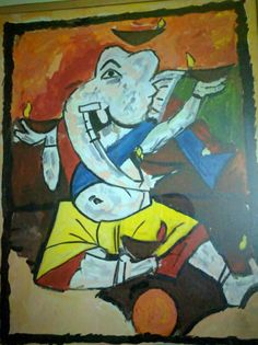 Ganesha Painting, Work Inspiration, Art Work, Artwork, Work Of Art