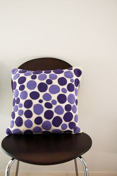 Sew a Dot Baby Pillow. I would use pink and green but it is just so cute.