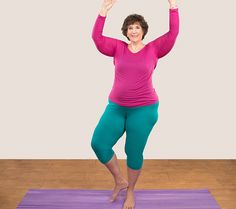 Make yoga easier at every size with these modified poses from instructor Abby Lentz.
