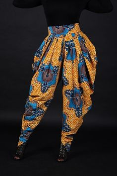 African print harem pants by ElpiscreationsNG on Etsy African Fashion Designers, African Inspired Fashion, African Men Fashion, African Fashion Dresses, African Wear, African Dress, African Clothes, Fashion Outfits, Fashion Styles