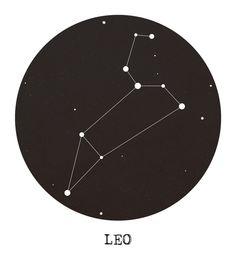 Leo Star Constellation Art Print