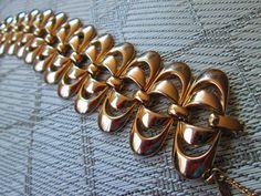 Vintage Gold Double Oval Bracelet  Monet 1960 by truthorwear, $75.00