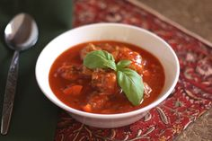 Barefeet In The Kitchen: Italian Herb Meatball Soup