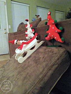 Our Elf on the Shelf Creative Ideas- Ringo Bells Takes on Christmas 2013 - Just a Little Creativity