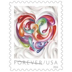 Quilled Paper Heart Forever® Stamps | USPS