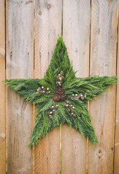 Items similar to Holiday Star Door Wreath, star door hangar, live fresh evergreen star wreath, fresh holiday wreath, star wreath on Etsy Christmas Swags, Christmas Flowers, Christmas Ornaments To Make, Holiday Wreaths, Handmade Christmas, Holiday Crafts, Christmas Crafts, Christmas Decorations, Fresh Christmas Wreaths