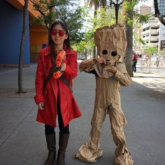 Diy newborn baby groot costume guardians of the galaxy family svcc day 3 paper bag baby groot was a smash hit at one point solutioingenieria Gallery