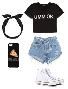 """Summer"" by loucelcandamo ❤ liked on Polyvore featuring Levi's, Forever 21, yunotme and Converse"