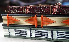 Hand-made journals - I need to learn how to do these stitches!  Why, oh why does nobody write online tutorials for anything beyond basic coptic stitching?  *shakes fist at the sky*