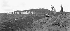 """The HOLLYWOODLAND sign was built in 1923 to advertise the name of a new LA housing development. Studded with ~4,000 light bulbs, """"HOLLY"""" """"WOOD"""" and """"LAND"""" would light up individually before the entire sign. It was intended to stay for only 18 months, but - Imgur"""