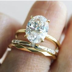 Delicate and Delicious. 😍 Our signature Aura ring features a gorgeous oval diamond. ❤️ Shown with our scattered diamond Ursa Major ring and faceted Spectra band. 👌 All available in our SF store and online (LINK IN BIO. Wedding Engagement, Wedding Bands, Engagement Rings, Wedding Ring, Dream Wedding, Wedding Day, Oval Diamond, Dream Ring, Diamond Are A Girls Best Friend