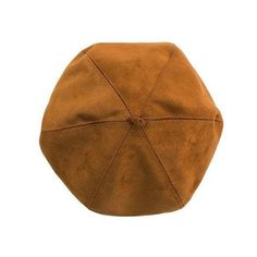 Yoins Yoins Suedette Octagonal Hat ($6.14) ❤ liked on Polyvore featuring accessories, hats, yoins, camel, round hat, crown hat and camel hat