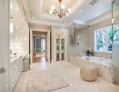 Transitional Master Bathroom in Palm Beach, FL