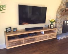 Image result for industrial floating media console
