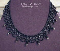 Beads Magic - free beading patterns and everything about handmade jewelry: beads patterns, schemas, photos, ideas, inspiration. - Part 3 Seed Bead Necklace, Seed Bead Jewelry, Bead Jewellery, Jewelry Necklaces, Tanishq Jewellery, Diamond Necklaces, Oxidised Jewellery, Jewellery Shops, Beading Patterns Free