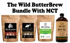 The Wild Butter Brew Starter Kit With MCT | Wild Coffee, Wild Vanilla, Wild Chocolate, Wild MCT Oil