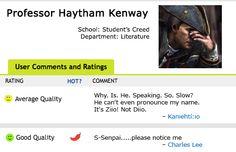Professor Haytham Kenway. Assassin's Creed. Poor Ziio