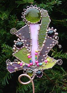 stained glass garden art - Google Search