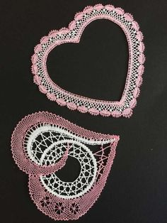 Bobbin Lace Patterns, Lacemaking, Lace Heart, Lace Jewelry, Happy Valentines Day, Lace Detail, Crochet, Hand Embroidery, Diy And Crafts