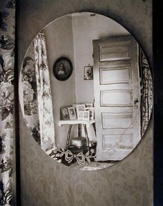 Wright Morris, Reflection in Oval Mirror, Home Place, 1947; photograph; gelatin silver print, 10 in. x 8 in. (25.4 cm x 20.32 cm); Collection SFMOMA, Gift of Robert Fisher; © 2003 Center for Creative Photography, Arizona Board of Regents