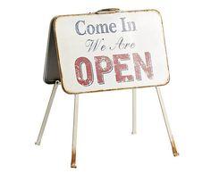 Placa decorativa de metal Open & Closed – 60x77cm