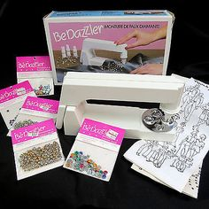 Original-1980s-BeDazzler-in-Box-Instructions-Patterns-Rhinestones-Studs-Extras