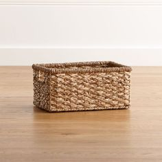 Kelby Small Tote - Crate and Barrel Jewelry Studio Space, Lighted Centerpieces, Home Storage Solutions, Iron Wire, Crate Storage, Office Accessories, Custom Furniture, Crate And Barrel, Rattan