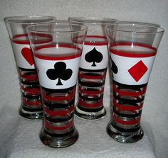 Beer Glasses  Hand Painted  by SharonsCustomArtwork on Etsy, $60.00
