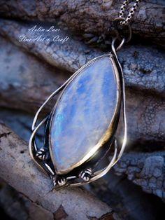 Moonlight well silver talisman by Gwillieth.deviantart.com on @DeviantArt