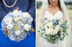 Something Blue Wedding Bouquets
