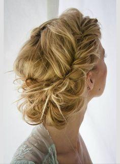 Beautiful low bun wedding hair