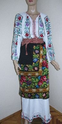 Unbelievable beautiful Romanian traditional costume , completely hand embroidered and hand woven .  For sale at www.greatblouses.com Folk Clothing, Embroidered Blouse, Hand Weaving, Kimono Top, Culture, Traditional, Embroidery, Clothes, Beautiful