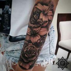 Nice tat! #FlowerTattooDesigns