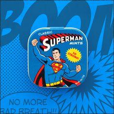 Vintage Superhero Mint Tins — Emily Matsuno Mint Tins, Super Man, Superhero, Classic, Fictional Characters, Vintage, Art, Derby, Art Background
