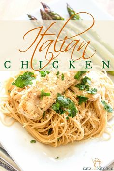 One of my FAVORITE dinners to make! I got the recipe from my husband's family...There are never any leftovers, and it is so easy to feed an army with! Italian Chicken with Angel Hair Pasta {& The Business of Making Beautiful Things} ~ Club31Women