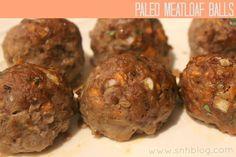 paleo meatballs . . . Hannah loves her meatloaf..