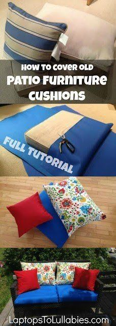 How to re-cover patio furniture cushions – Heather's Handmade Life