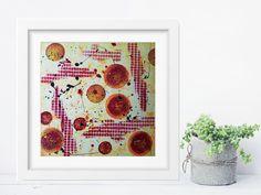 Acrylmalerei - Acrylbild auf Papier **Farbmix Serie 14** - ein Designerstück von SoMa-Art bei DaWanda