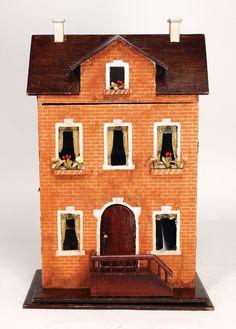 Ladenburger Spielzeugauktion Antique Dollhouse, Antique Dolls, Old Dolls, Miniture Things, Dollhouse Furniture, Dollhouses, Vintage Toys, Germany, Miniatures